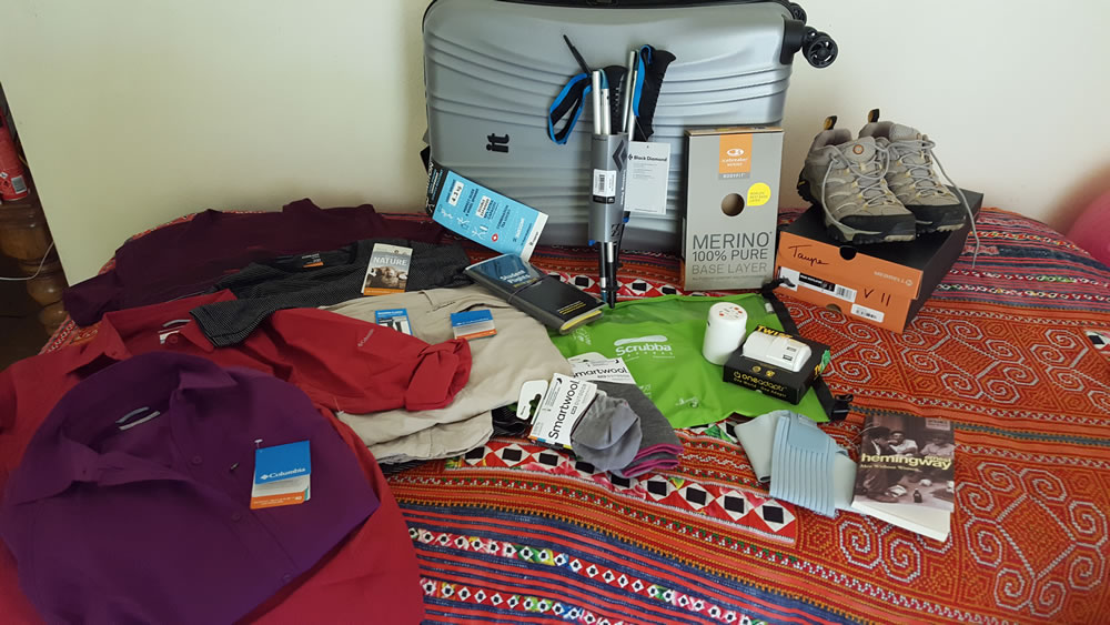 Reviews Page – stuff I bought for this trip